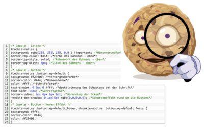 CSS Anpassung bei Cookie Notice