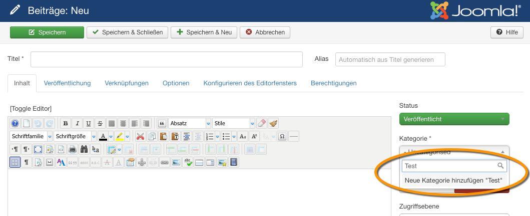 Joomla 3.6 - Beitrag Kategorie - der WEB-Krüb(l)er - Martin Krüber