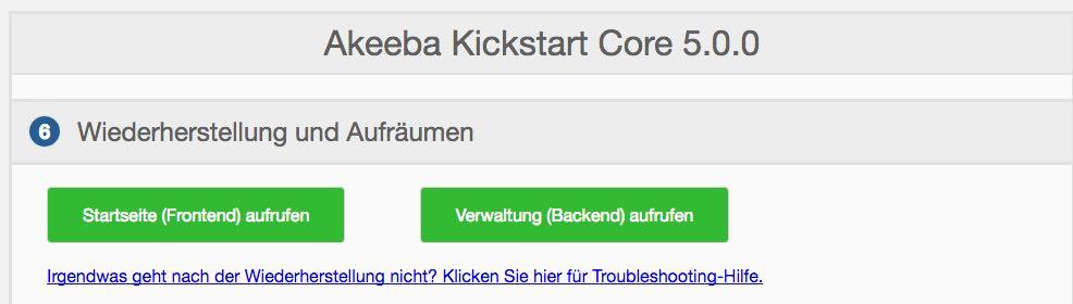 Akeeba Backup Schritt 8 - der WEB-Krüb(l)er - Martin Krüber