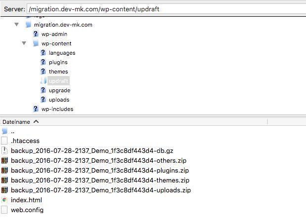 Backupfiles hochladen - der WEB-Krüb(l)er - Martin Krüber
