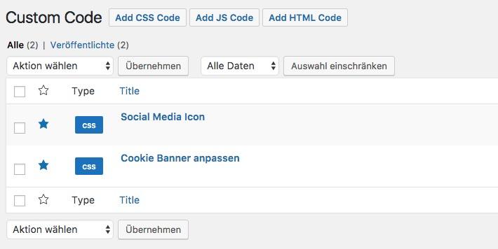 PlugIn Custom Code - Item Ansicht - der WEB-Krüb(l)er - Martin Krüber