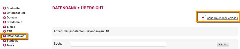 Datenbank anlegen Schritt 1 - der WEB-Krüb(l)er - Martin Krüber
