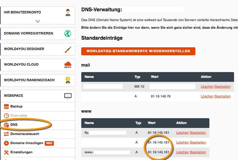 DNS Server anpassen - der WEB-Krüb(l)er - Martin Krüber