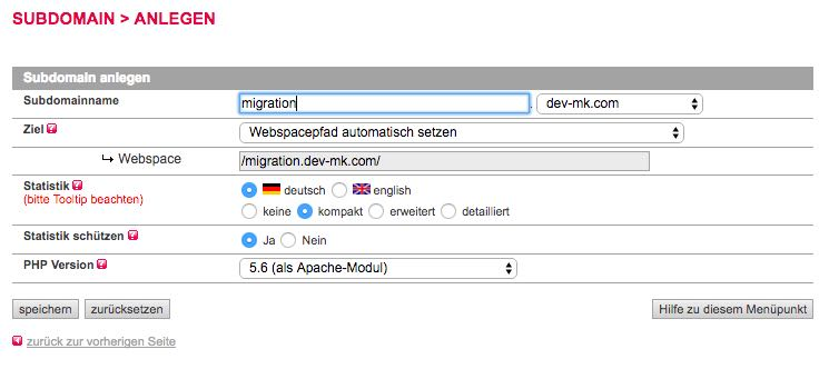Subdomäne anlegen - All-Inkl - der WEB-Krüb(l)er - Martin Krüber