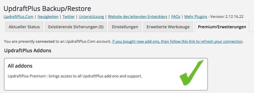UpdraftPlus aktivieren - der WEB-Krüb(l)er - Martin Krüber
