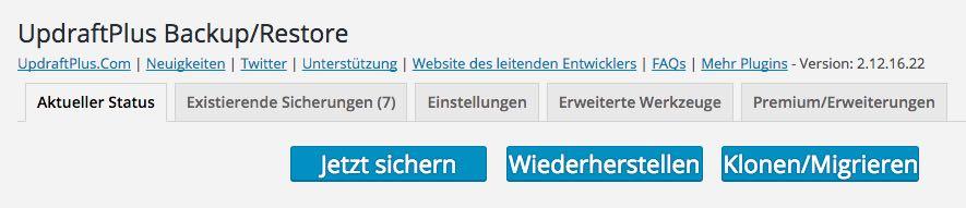 Updraftplus - Backup erstellen - der WEB-Krüb(l)er - Martin Krüber