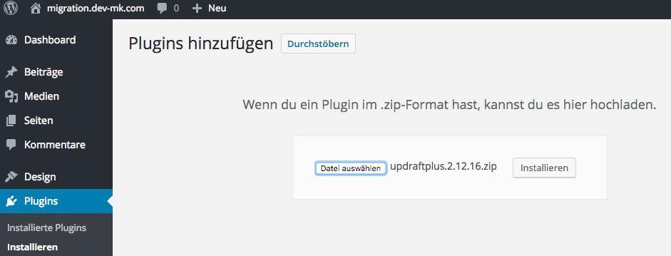 UpdraftPlus installieren - der WEB-Krüb(l)er - Martin Krüber