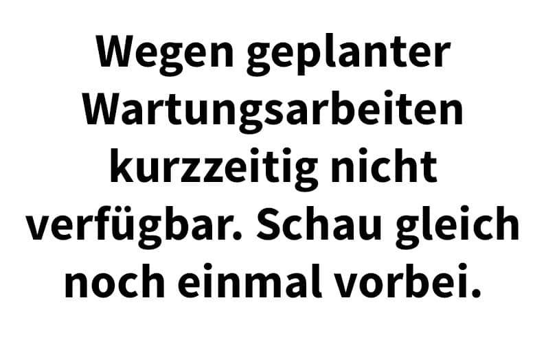 Wartungsmodus deaktivieren - der WEB-Krüb(l)er - Martin Krüber