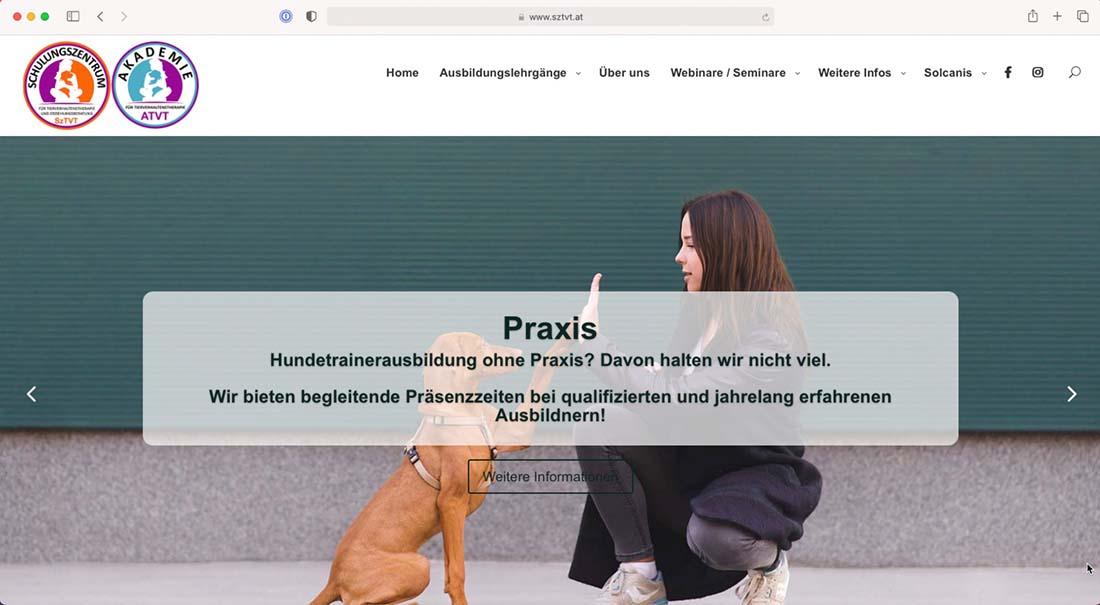 Referenz Webseite - sztvt.at