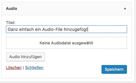 Widget Audio - WordPress 4.8