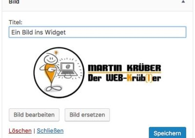 Widget Bild - WordPress 4.8