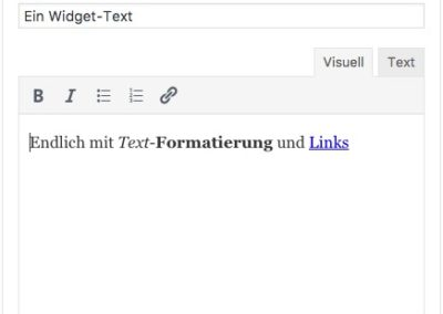 Widget Text - WordPress 4.8